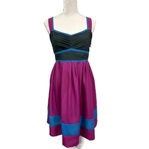 ANTHROPOLOGIE KIMCHI BLUE Smocked DRESS tie waist